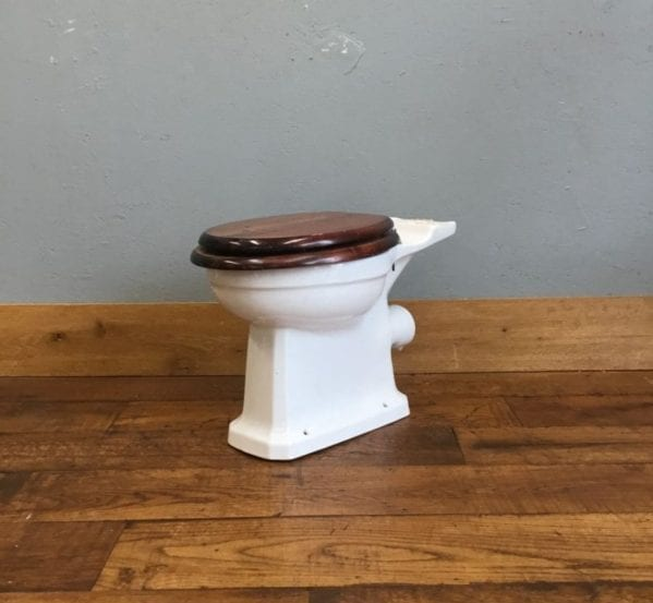 Toilet & Dark Wood Seat