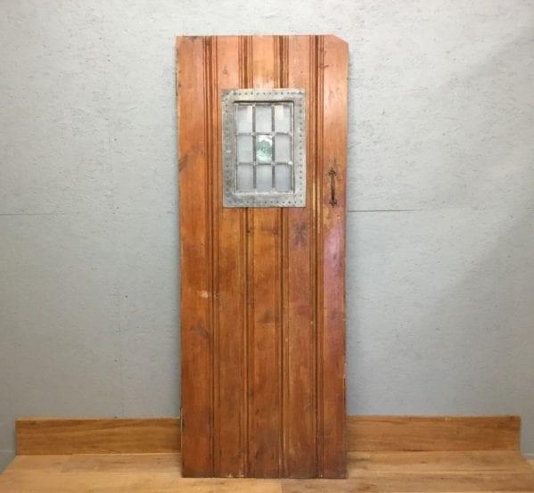 Varnished Ledge & Braced Glazed Door