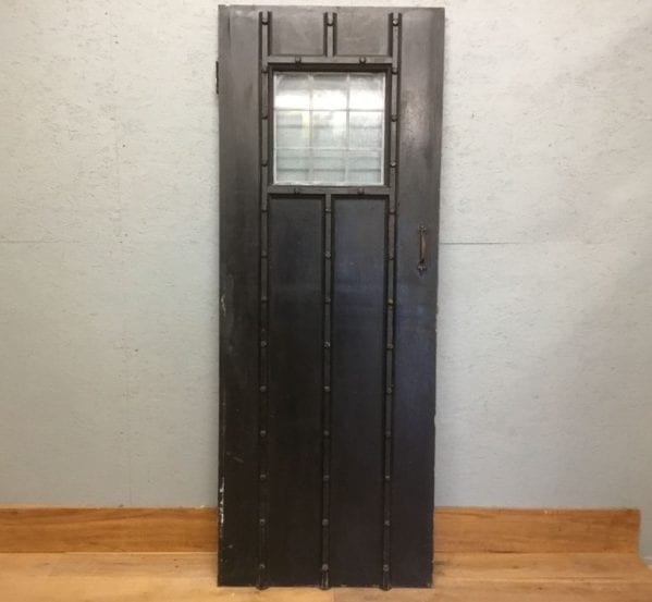 Glazed Black Ledge & Brace Door