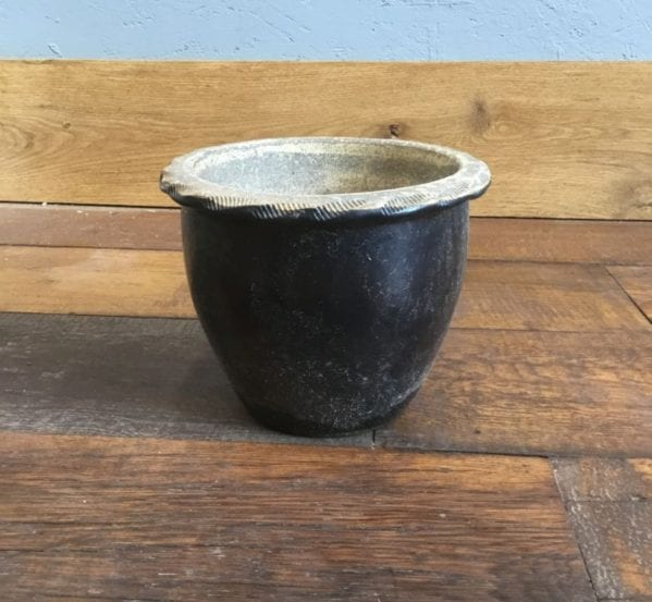 Black Plant Pot