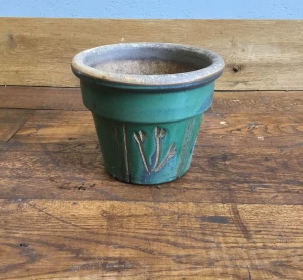 Green Floral Pattern Pot