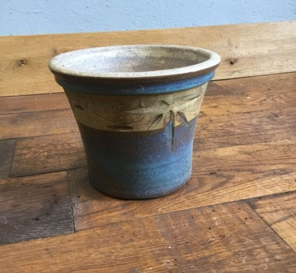 Blue & Beige Pot