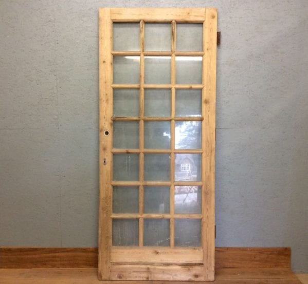 Large Glazed Stripped Door