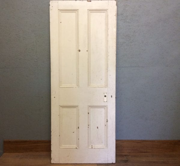 4 Panelled Door in White