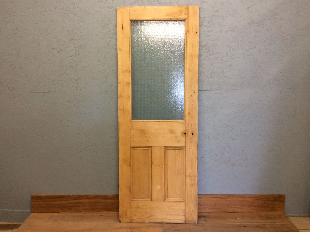 Half Glazed Stripped Door