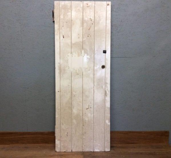 Ledge & Brace White Door