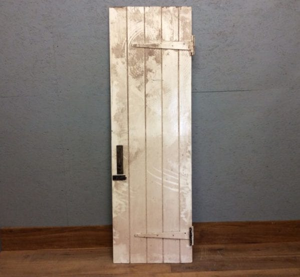 Narrow White L & B Door