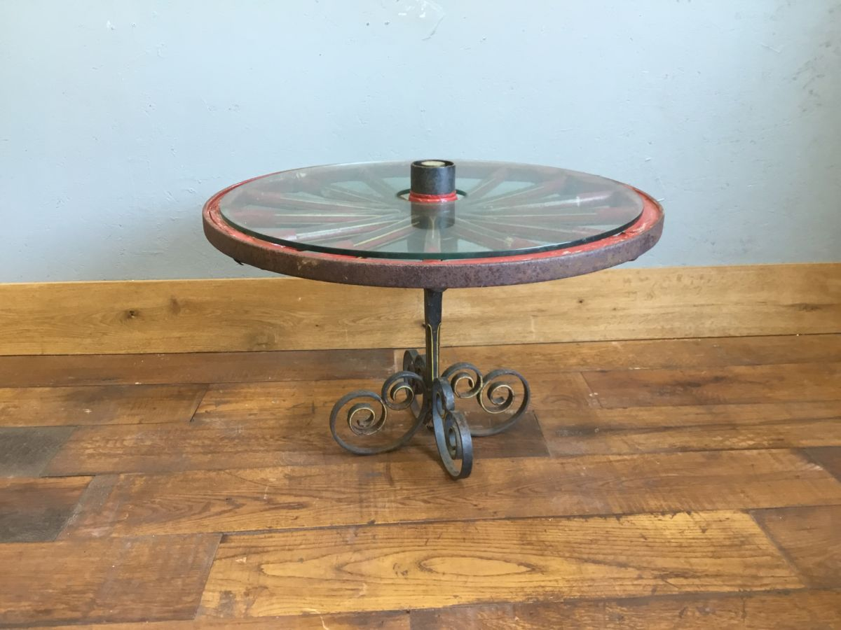 Wheel Table Glass Top