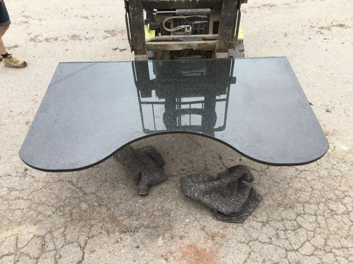 Large Granite Curved Slab Worktop