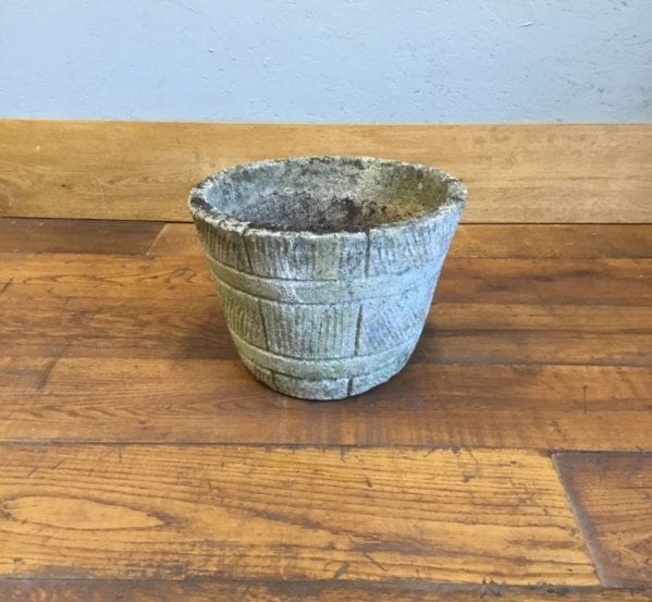 Barrel Pattern Stone Pot