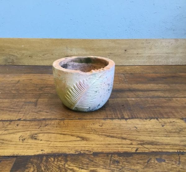 Fern Pattern Terracotta Planter