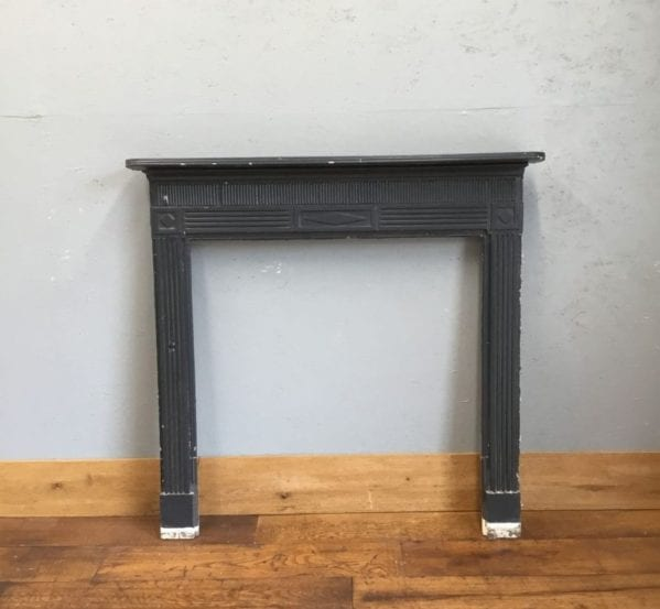 Dark Blue Painted Wood Fire Surround