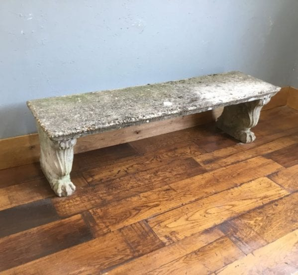Reconstituted Stone Bench & Feet