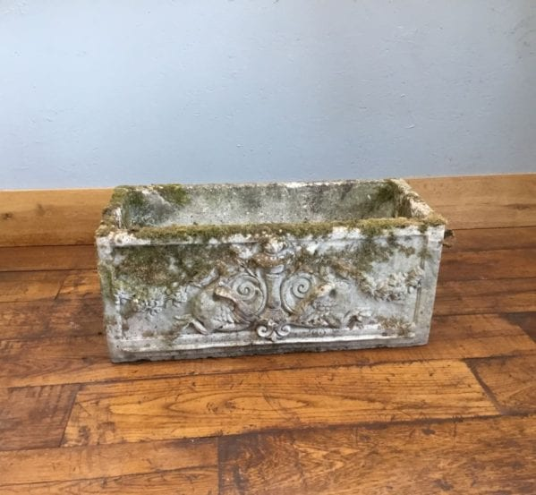 Ornate Rectangular Stone Planter