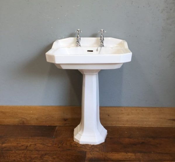 Six Sided Heritage Sink & Pedestal