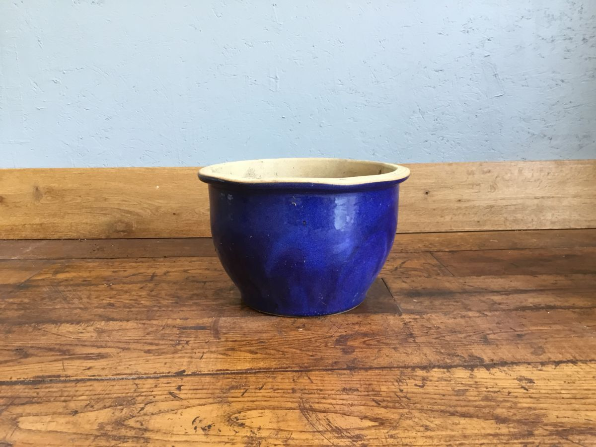 Large Blue Glazed Pot