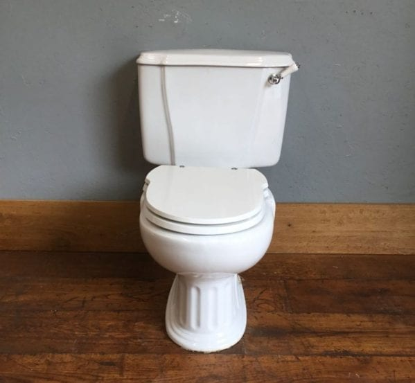 White Sanitana Cistern & Toilet Unit