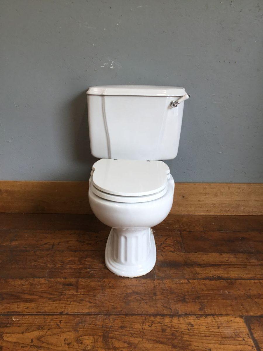 White Sanitana Cistern & Toilet Unit