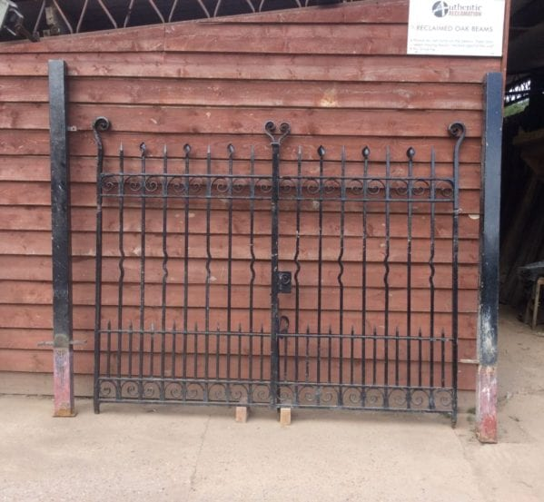 Large Solid Iron Gate Pair