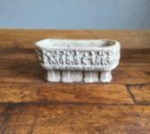 Oval Carved Stone Planter