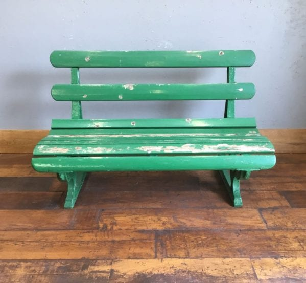 Green Reclaimed Railway Bench