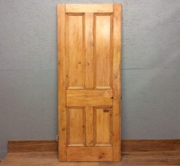 Stripped Varnished 4 Panelled Door