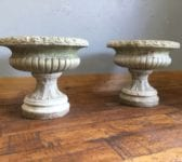 Reconstituted Two Piece Stone Planter Pair