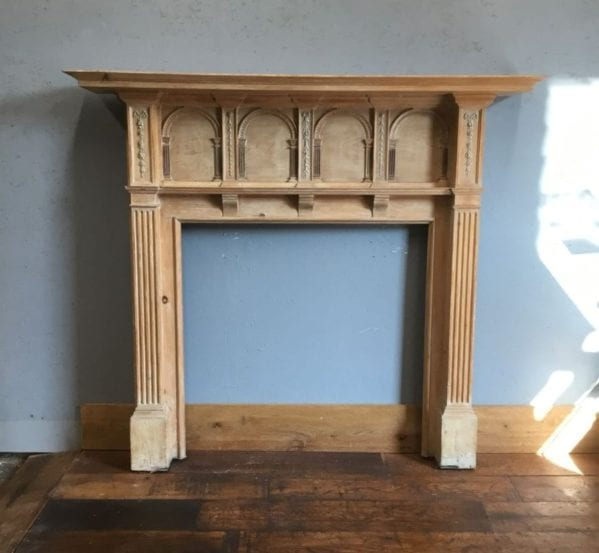 Highly Ornate Fire Surround & Over Mantle