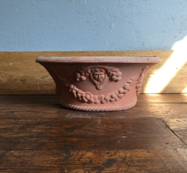 Ornate Terracotta Wall Mounted Planter