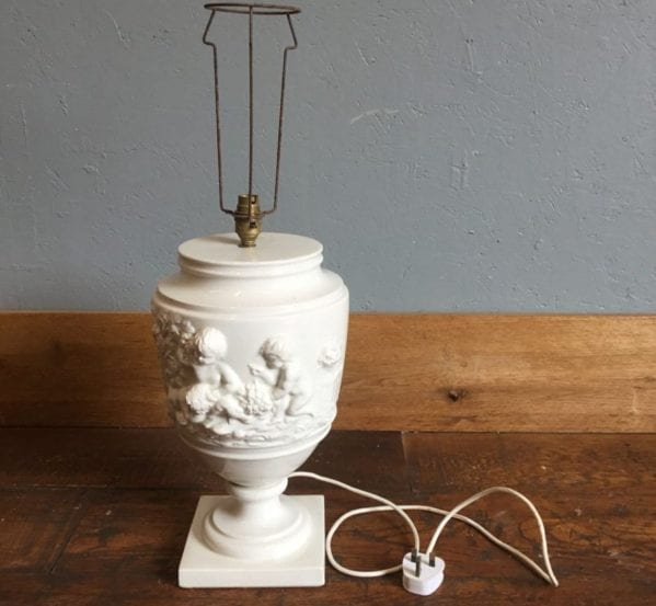Porcelain Urn Shaped Lamp Base