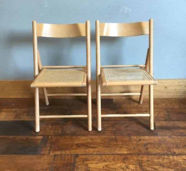 Rattan Chair Pair