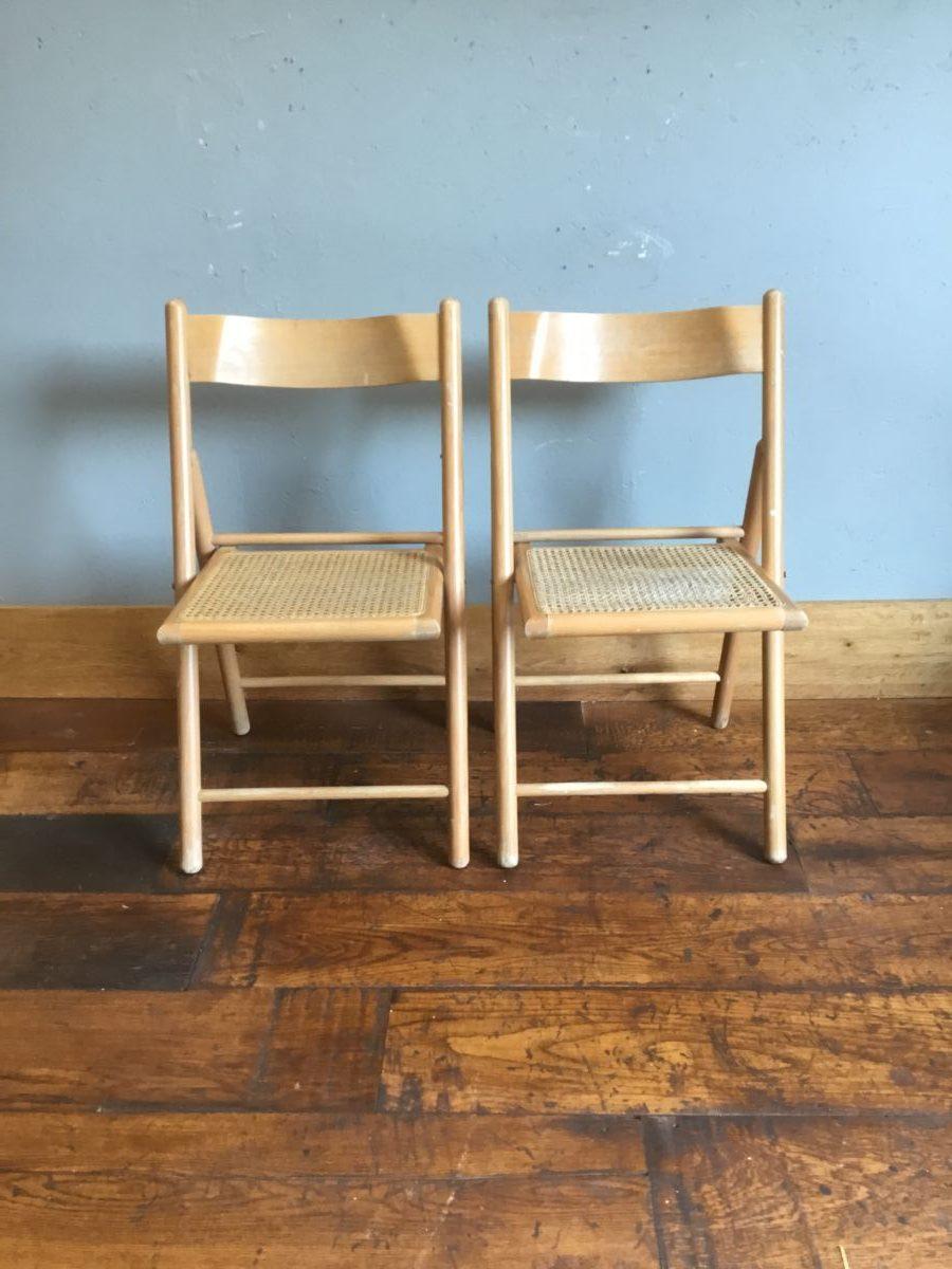 Rattan Chair Pair