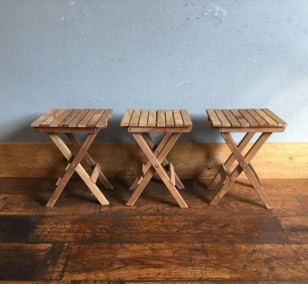 Square Collapsible Wooden Stools