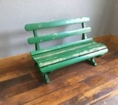 Green Reclaimed Railway Bench