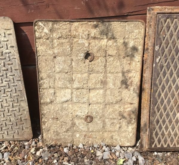 Concrete Filled Reclaimed Man Hole Cover