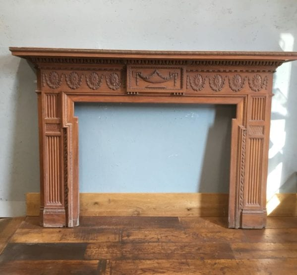 Regency Style Carved Wood Fire Surround