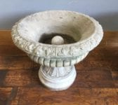 Reconstituted Two-Piece Stone Planter Pair