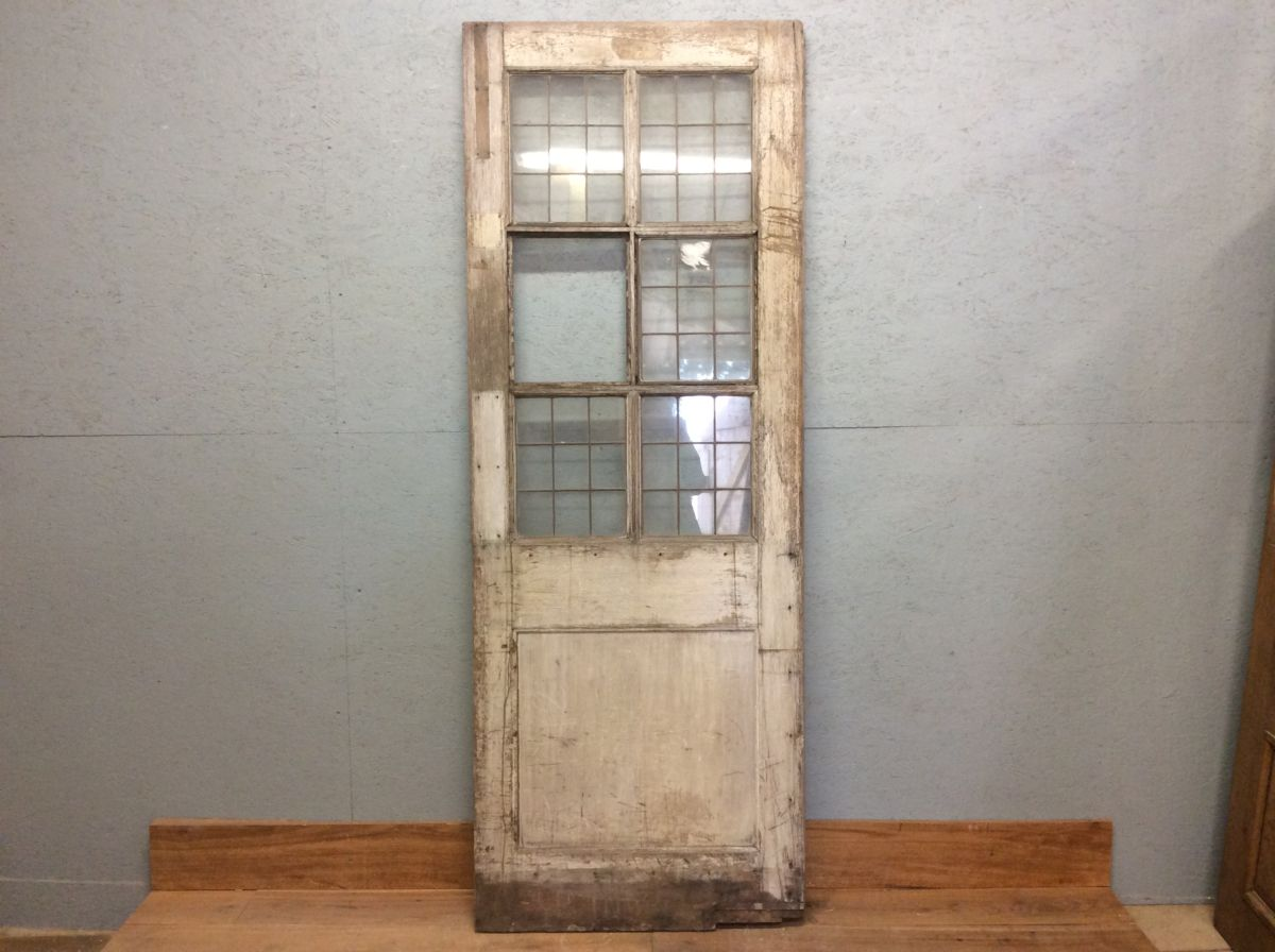 Aged Weathered Oak Glazed Door
