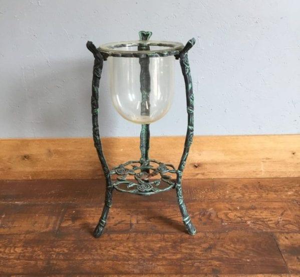 Metal Stand & Deep Glass Bowl
