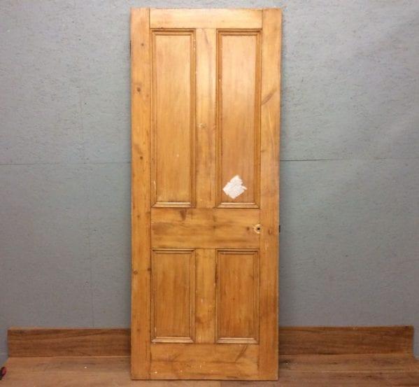 4 Panelled Stripped Varnished Door