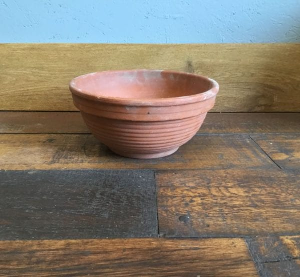 Shallow Ribbed Terracotta Pot