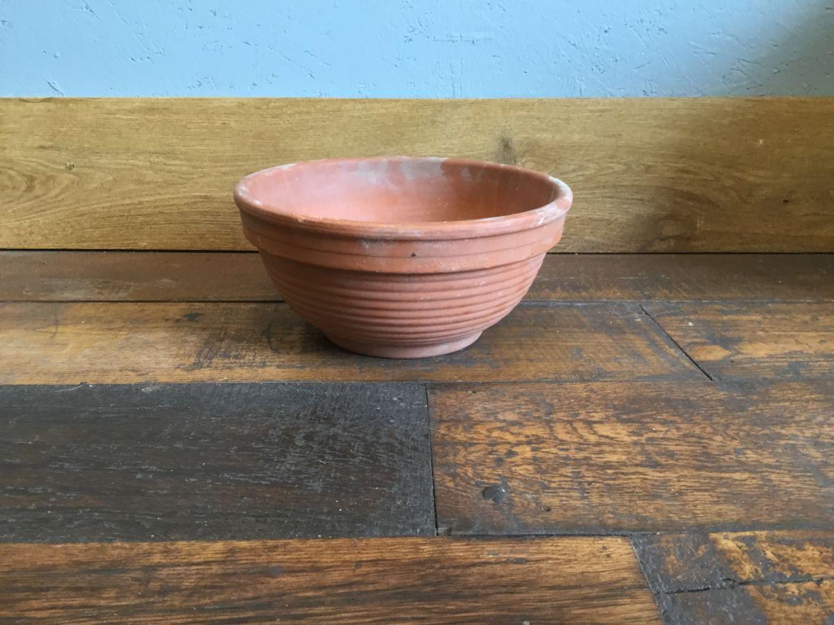 Shallow Ribbed Terracotta Pot