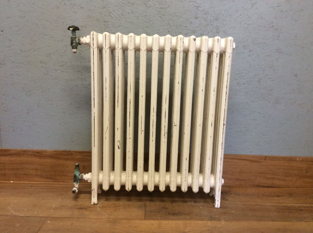 Medium-height White 4 Bar Radiator