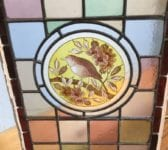 Hand Painted Multi Coloured Stained Glass Window Panel