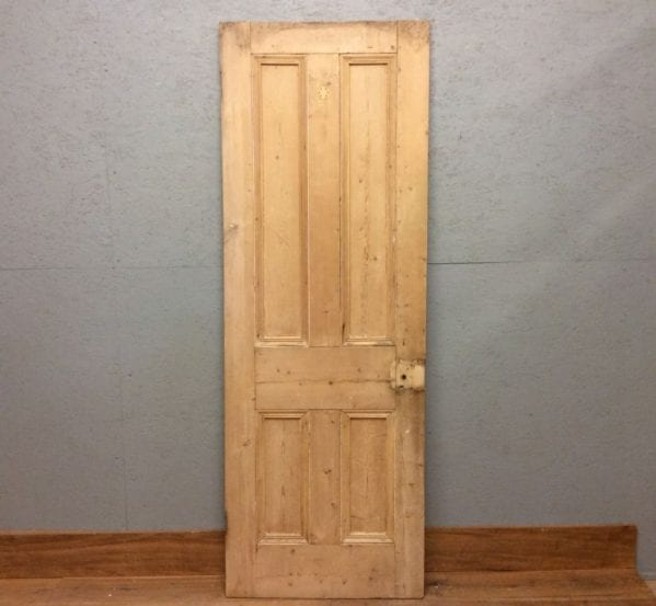 Rough Finish Stripped 4 Panelled Door