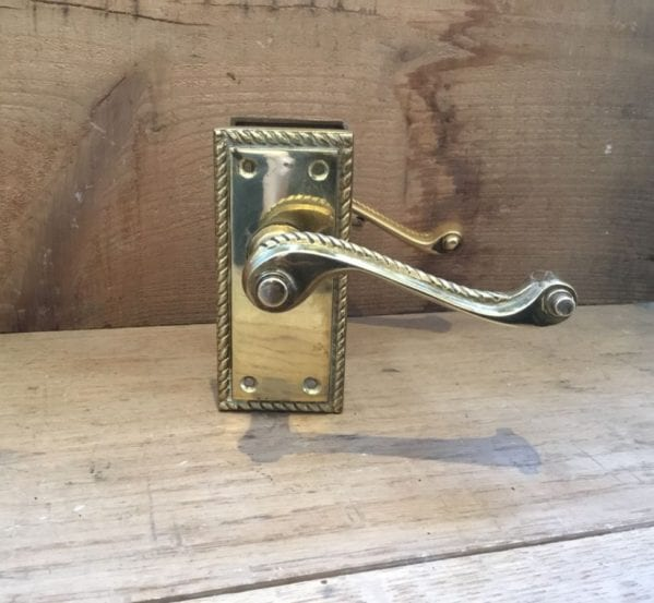 Polished Brass Door Handle Sets