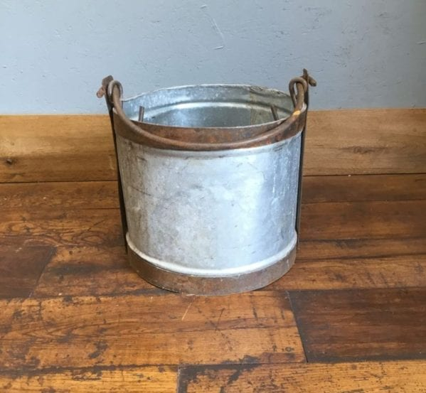 Copper Trim & Handled Bucket
