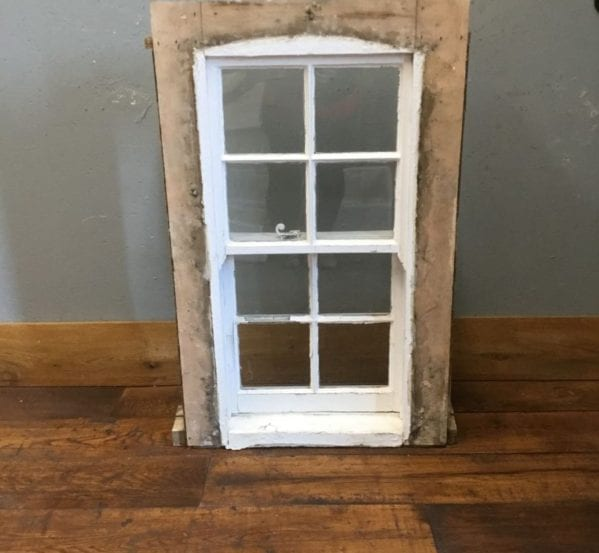 Wooden Sash Window In Frame