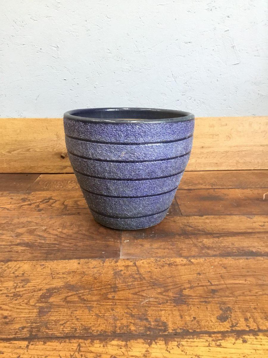 Blue Textured Band Pot