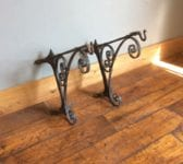 Victorian Wall Mounted Corner Hanging Basket Brackets